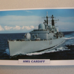 1974 HMS Cardiff Destroyer  warship framed picture